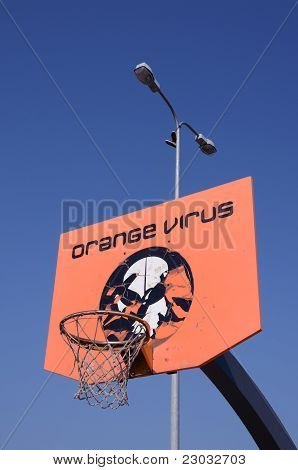 Orange Basketball Backboard