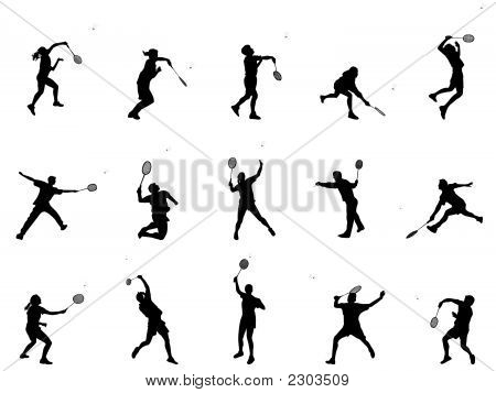 Silhuetas de Badminton