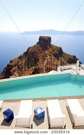 Santorini Luxury Pool At Skaros