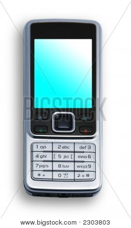 Cell Phone On White Background