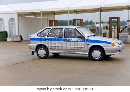 police car at the International Aviation and Space salon MAKS.