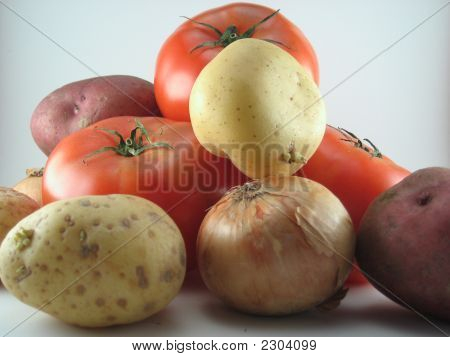 Potatoe, Onion & Tomatoe