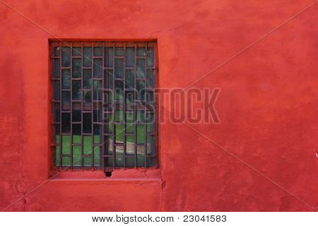Window With Red Wall