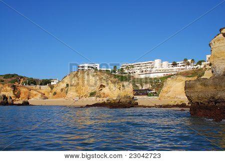 Beach Dona Ana In Lagos In The Algarve Portugal
