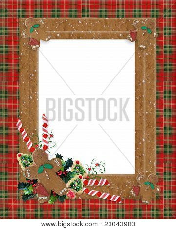 Christmas plaid gingerbread border