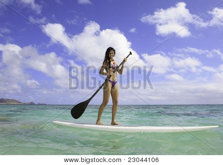 woman on paddle board
