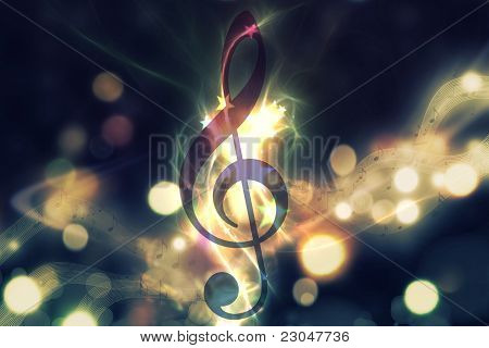 Glowing Music Background