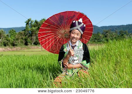Portrait Hmong From Laos