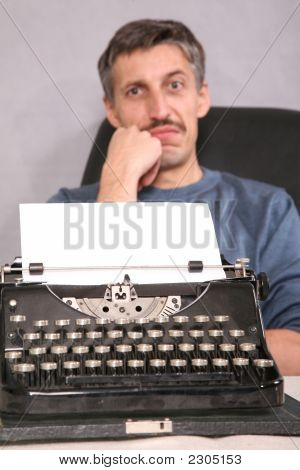 Man And Typewriter 2