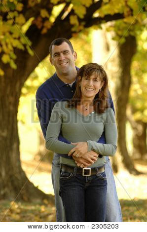 Couple In Autumn Color