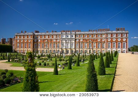 Hampton Court Palace and its park
