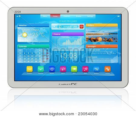 Blanco tablet PC