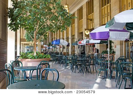 Food Court at Train Station
