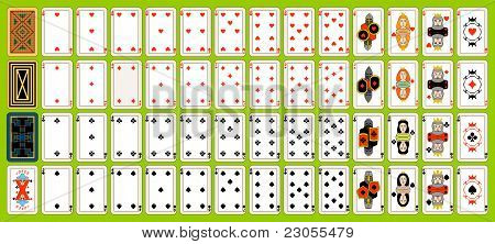 Set Of Playing Cards.