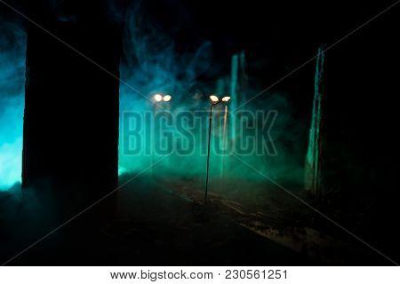 Empty Street Of Burnt Up