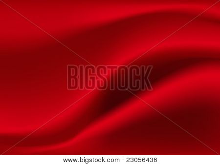 Vector red silk background