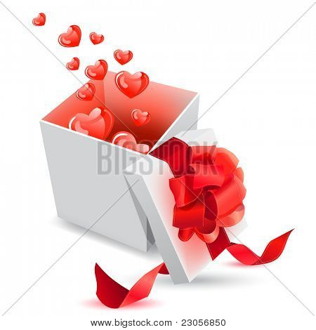 Vector realistic giftbox with bow