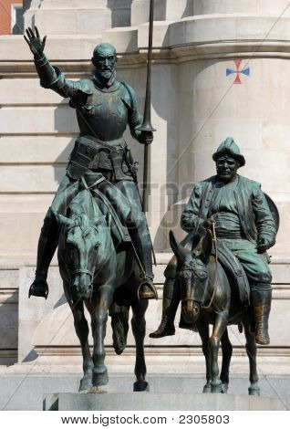Don Quijote And Sancho Panza In Madrid