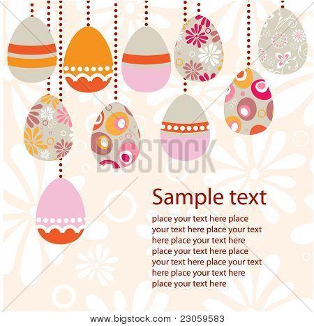 Tarjeta de felicitación del huevo de Pascua