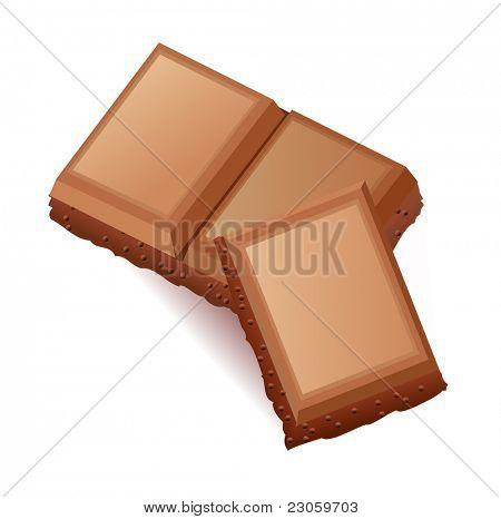 Un pedazo de chocolate con leche