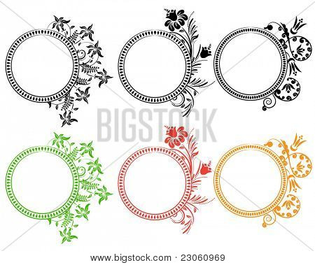 Beautiful floral ornate frames