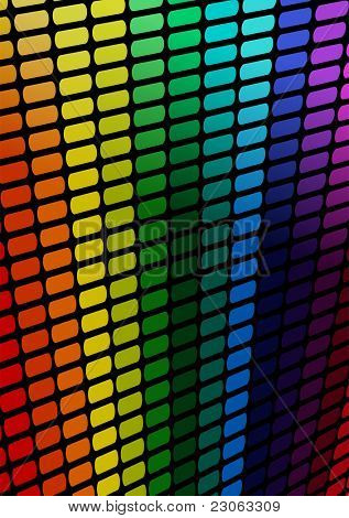 Abstract multi-colored lines. Raster version. Vector version is in my gallery.