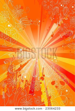 Abstract orange summer background. Raster version. Vector  version is in my gallery.