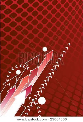 Abstract red arrow background with place for your text. Raster version. Vector version is in my gallery.