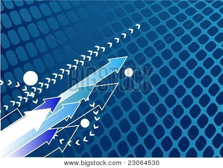 Abstract blue arrow background with place for your text. Raster version. Vector version is in my gallery.