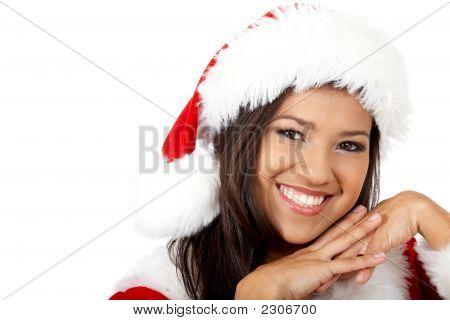 Beautiful Friendly Santa Portrait