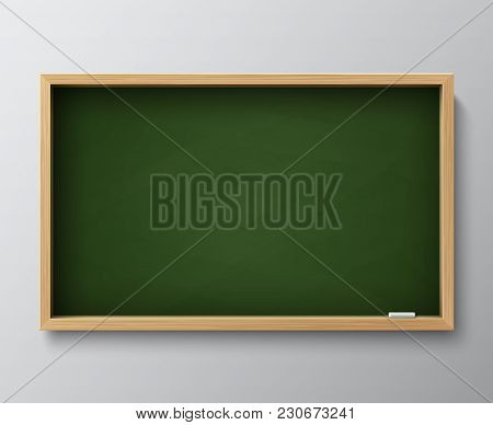 Dirty Empty Blackboard Green Chalkboard