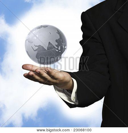 Globe On Hand