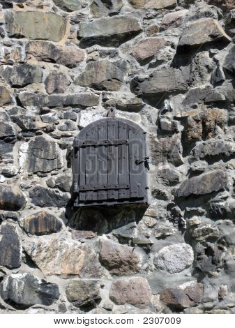 Castle Window In Norway