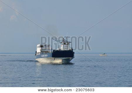 Ferry Boat Motoring On Lake Superior