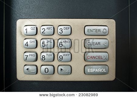 Dirty Public Keypad