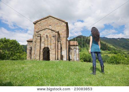 Woman In Santa Cristina De Lena Church