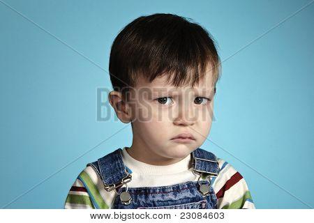 Stress Boy With Sad Sight