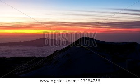 View From Mauna Kea At Sunset