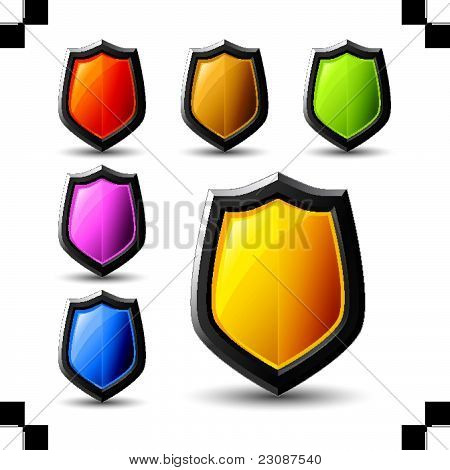 vector shield icons