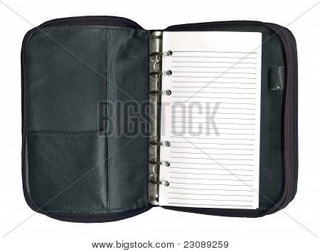 Black Leather Organizer Isolated
