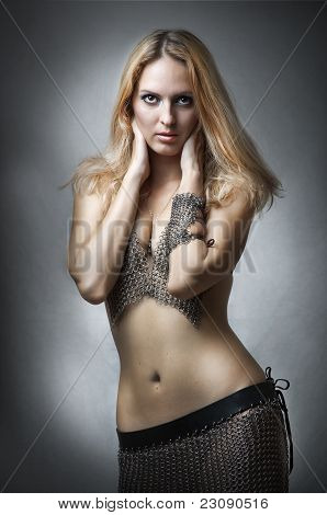 Fashion Studio Portrait Of Young Sexy Model