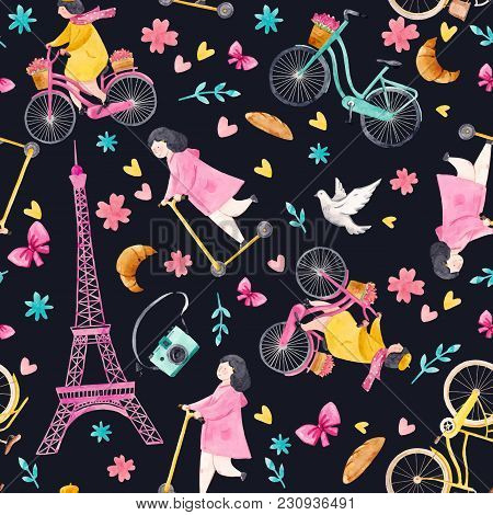 Beautiful Vector Seamless Pattern With