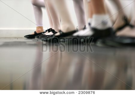 Tap Dance Class In Motion