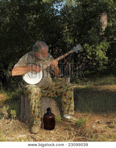 Banjo Player With Jug