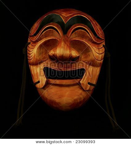 Korean Traditional Male Wooden Mask