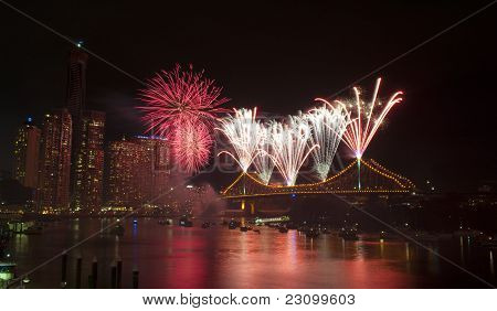 Brisbane Riverfire Fireworks show, 2011