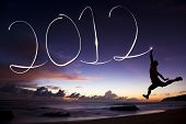 stock photo of new years celebration  - happy new year 2012 - JPG