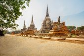 Wat Phra Sri Sanphet - Ancient Temple In Ayutthaya, Thailand. The Temple Is On The Site Of The Old R poster