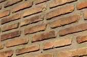 Brick Masonry Of Red Brick With A Binder Solution poster