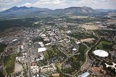 Campus of NAU and Flagstaff, Arizona from above